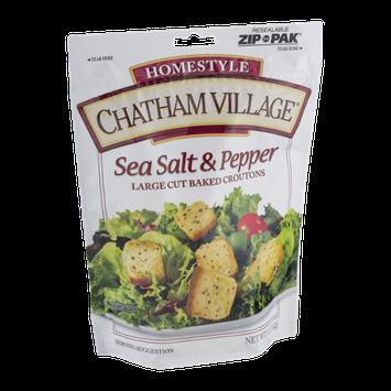 Chatham Village Large Cut Baked Croutons Sea Salt & Pepper
