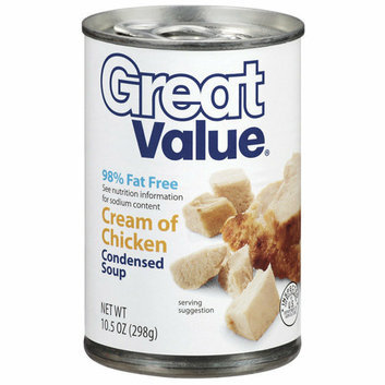 Great Value : Cream Of Chicken Condensed Soup