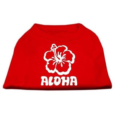 Ahi Aloha Flower Screen Print Shirt Red XXXL (20)