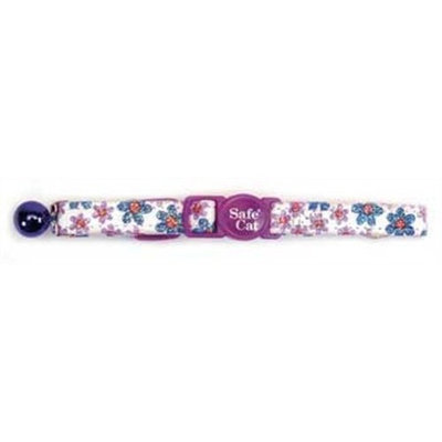 too Flower Frenzy Cat Collar, 3/8-Inch Wide, Adjustable 8-12