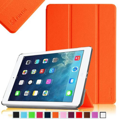 Fintie Ultra Slim Stand Cover SmartShell Case for Apple iPad Air iPad 5, Orange