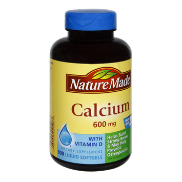 Nature Made Calcium 600mg Dietary Supplement Softgels - 100 CT