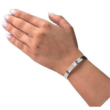 Family Medical Aids Magnetic Silver Color Cuff Bracelet