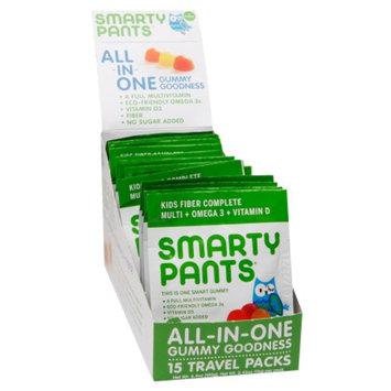 SmartyPants Kids Fiber Complete On-The-Go Gummy Vitamin Packs, 15 ea