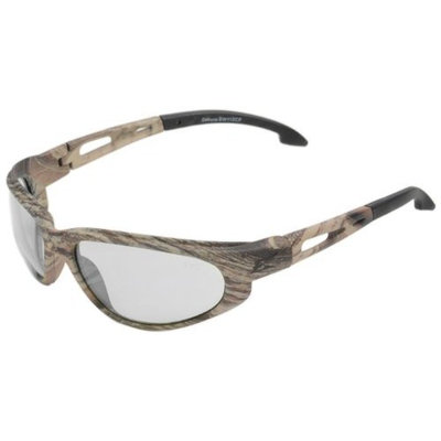 Edge Eyewear SW111CF Dakura Safety Glasses, Camouflage with Clear Lens