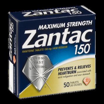 Zantac 150 Maximum Strength Ranitdine Tablets - 50 CT