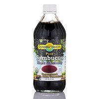 Dynamic Health Laboratories Sambucus Black Elderberry Certified Organic Dynamic Health 16 oz Liquid