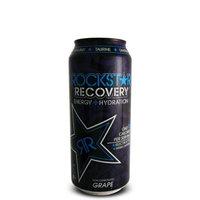 16 Pack - Rockstar Recovery Energy + Hydration - Grape - 16oz.