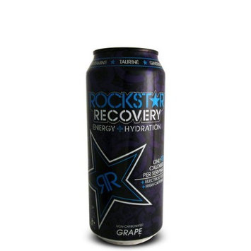 16 Pack - Rockstar Recovery Energy + Hydration - Grape - 16oz.