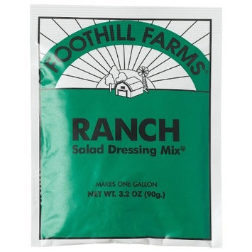 Foothill Farms Ranch Salad Dressing 3.2 Ounce Packet Makes 1 Gallon