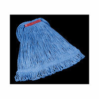 Rubbermaid Commercial Products Super Stitch Blend Cotton/Synthetic Mop Heads in Blue