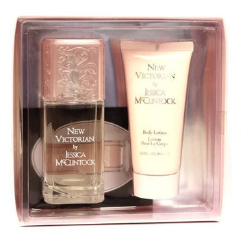 Victorian By Jessica Mcclintock For Women. Gift Set ( Eau De Parfum Spray 3.4 Oz + Body Lotion 3.0 Oz).