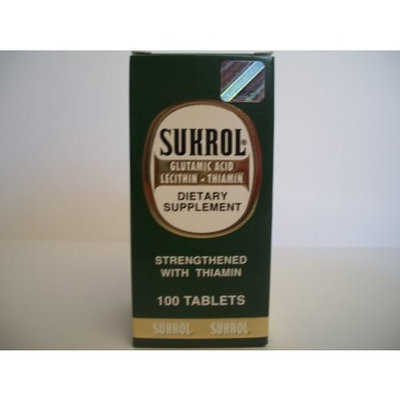 Sukrol Dietary Suppliment Sukrol Dietary Supplement 100 Tablets