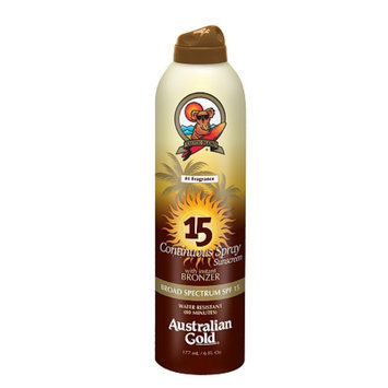 Australian Gold Continuous Spray with Instant Bronzer SPF 15