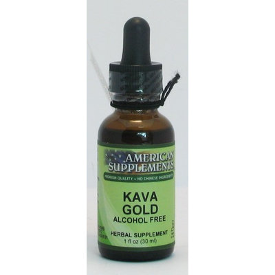 Kava Gold Alcohol Free No Chinese Ingredients American Supplements 1 oz Liquid