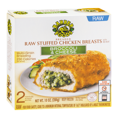 Barber Foods Raw Stuffed Chicken Breasts Broccoli & Cheese - 2 CT
