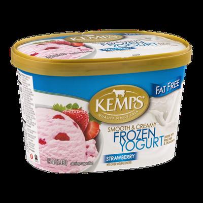 Kemps Smooth & Creamy Frozen Yogurt Strawberry Fat Free