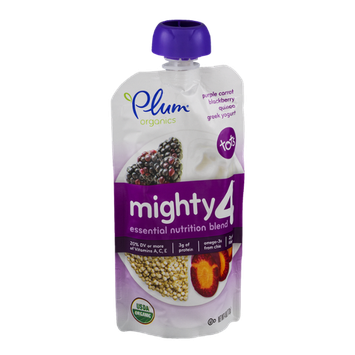 Plum Organics Mighty 4 Greek Yogurt Tots Purple Carrot Blackberry Quinoa