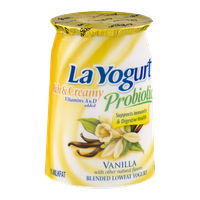 La Yogurt Probiotic Rich & Creamy Lowfat Yogurt Vanilla