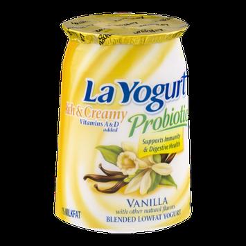 La Yogurt Probiotic Rich & Creamy Lowfat Yogurt Vanilla