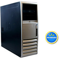 Compaq HP Off-Lease, Refurbished Black DC7700 Tower Desktop PC with Intel Core 2 Duo Processor, 2GB Memory, 160GB Hard Drive and Windows 7 Home Premium (Monitor Not Included)