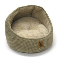 Precision Pet Hooded Cat Bed, Tan Bump, Chenille