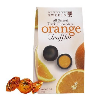Harvest Sweets Dark Chocolate Truffles, Orange, 2.6-Ounce (Pack of 6)