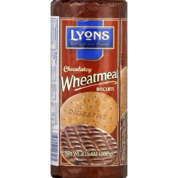 Lyons Chocolate Wheatmeal Digestive Biscuit, 10.5 Ounce -- 21 per case.