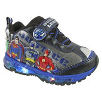 Toddler Boy's Justice League Light Up Sneakers - Silver 10