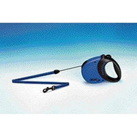 Flexi Comfort Long 26-Feet Small Leash, 26-Pound, Blue/Black