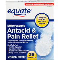 Equate Effervescent Original Flavor Antacid & Pain Relief Tablets