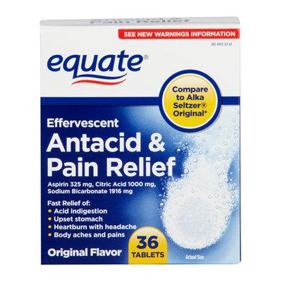 Equate Effervescent Original Flavor Antacid & Pain Relief Tablets