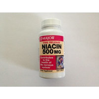 Major Niacin Time Release 500 mg, 100 Caplets