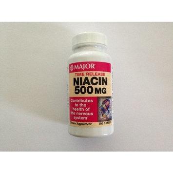 Major Niacin Time Release 500 mg, 100 Caplets