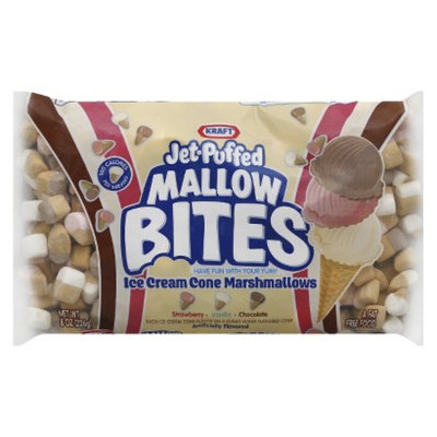 Kraft Jet-Puffed Mallow Bites Ice Cream Cone Marshmallows 8 oz