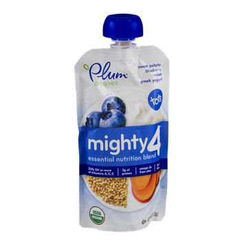 Plum Organics Mighty 4 Greek Yogurt Tots Sweet Potato Blueberry Millet