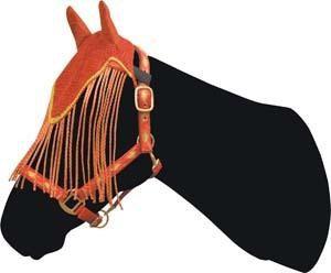 Abetta Fly Bonnet Horse Red W/ Gold