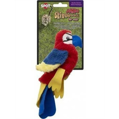 Ethical Skinneeez Scarlet Macaw 8-Inch Cat Toy