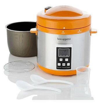 Bon Appetit BAPCR010O 7Qt. Programmable Heavy Duty Pressure Cooker in Orange