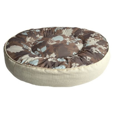 Boots & Barkley XXL Round Mattress - Flower Silhouette Brown