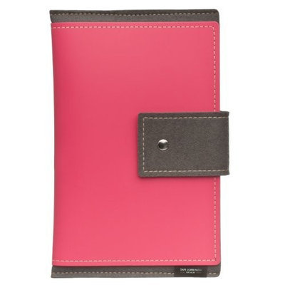San Lorenzo from MT BAKER MERCANTILE San Lorenzo Eco-Friendly Italian Leather and Wool Kindle Sleeve - PINK
