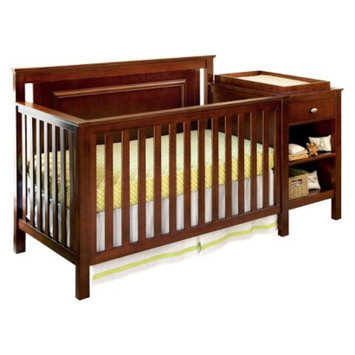 Lolly & Me Cogan 4-in-1 Crib Changer Combo - Mahogany