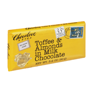 Chocolove Toffee & Almonds in Milk Chocolate