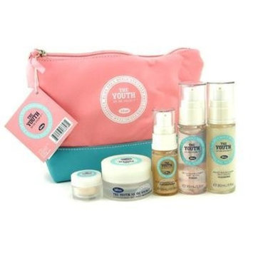 The Youth As We Know It Set: Cleanser + Toner + Concentrate + Moisture Cream + Eye Cream + Bag - Bliss - Travel Set - 5pcs+1bag