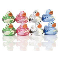 Elegant Baby Bath Time Fun Rubber Water Squirties Vinyl Zip Storage Bag, Camoflauge Duckies, Set of 8 (Discontinued by Manufacturer)