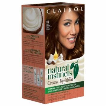 Clairol Natural Instincts Crema Keratina Hair Color, 6N Light Brown, 1 set