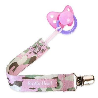 Booginhead Girl Camo PaciGrip Pacifier Leash