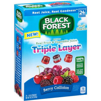 Black Forest Triple Layer Fruit Collision Fruit Snacks, 0.8 oz, 24 ct
