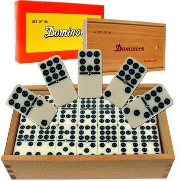 Trademark Games Premium Set of 55 Double Nine Dominoes w/ Wood Case