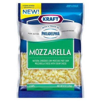 Kraft With a Touch of Philadelphia Mozzarella Shredded Cheese 8 oz